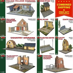 VILLAGE BUILDINGS MINIART 1/35 scale PLASTIC MODEL KIT BUILDING DIORAMAS