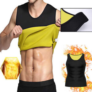 Mens Shaper Sweat Corset Body Slimming Vest Gym Thermo Belt Workout Sport NEW