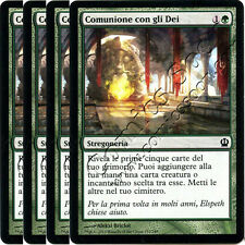 MTG THS 155 - 4 x Comunione con gli Dei /  Commune with the Gods - C MINT ITA