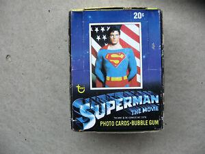 Vintage Superman the Movie waxbox 36 packs (1978) Topps