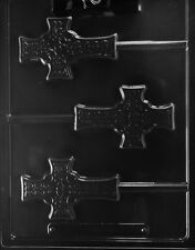R074 Celtic Cross Lolly Chocolate Candy Mold w/instructions