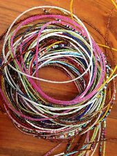 1000 Seed Glass Beads On Fishing Line.sizes Range From 1-3mm. random Colours