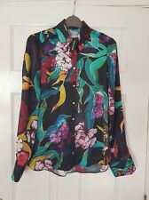 BNWT River Island Ladies Multicoloured Tropical Blouse/Shirt UK Size 8