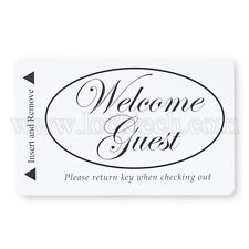 Welcome Guest Generic Magstripe Hotel Keycards - Case of 2,500