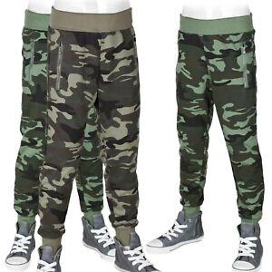 Jogginghose Camouflage Hose Freizeithose Kinder Sporthose Jungen Army-Style #216