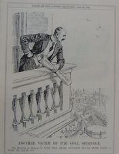 """7x10 """"punch Cartoon 1926 autre victime de la réduction de fumée arrêt de charbon"""