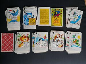 ancien jeu des 7 familles rare fables de La Fontaine Bonux
