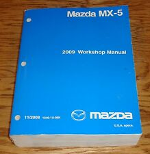 Original 2009 Mazda MX-5 Miata Shop Service Manual 09
