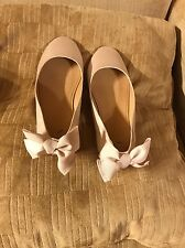 Girls CREWCUTS Pink Bow-back Bows Ballet Flat Shoes Kids, K4 4
