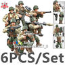 WW2 Military Soldiers France US Britain Army + Weapon Fit Lego Minifigures Mega