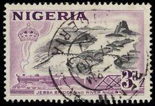 "NIGERIA 84 (SG73) - Jebba Bridge over Niger River ""1953 Printing"" (pa80475)"