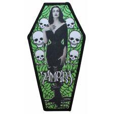 """The Vampira Show"" Coffin Logo Horror Movies Kreepsville Iron On Applique Patch"
