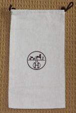 "HERMES Drawstring Dust Bag Purse Handbag Shoes Storage Cover 7 1/2"" x 14"""
