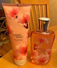 RARE Bath & Body Works CHERRY BLOSSOM Set Body Cream & Shower Gel NEW