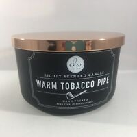 Candle Warm Tobacco Pipe DW Home Large 26 Hours 12.8 oz Three Wick