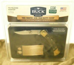 BUCK 110 Folding Hunter Knife Boone & Crockett Club Collectors Series New in Box