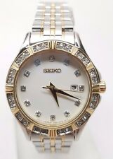 Seiko 3-Hand with Swarovski Crystals Two-Tone Women's watch SXDF16