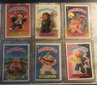 1985 Topps Garbage Pail Kids Card Lot of 6 #s 22a, 42a, 52a, 62b, 81a, 82a