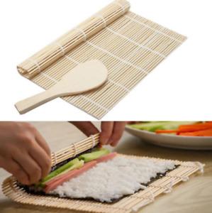BamBoo Sushi Roller Mat & Rice Paddle Set  ( Sushi Mst & Rice Spoon )  9.5 inch