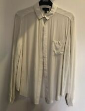 Topshop Cream Shirt Size 10 Worn Once SOLD OUT Rrp £35