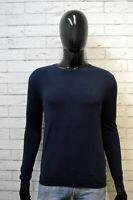 GUESS Uomo 44 Maglione Blu Uomo Maglia Cotone Cardigan Pullover Sweater Man