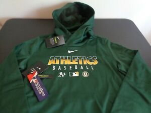 OAKLAND A's ATHLETICS Baseball NIKE Therma Women's MEDIUM Hoodie NEW Sweatshirt