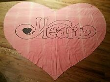 Vintage 70s Heart Dog & Butterfly Concert Tour Ann Nancy Wilson Bed Sheet Banner