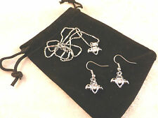 Austrian Crystal 18k White Gold Plated Angel Crystal Necklace & Earrings