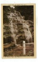 NY Watkins Glen New York vintage post card Hector Falls