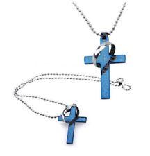 Cadenas, collares y colgantes de acero inoxidable cruz para hombre