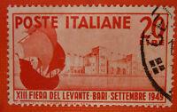 """Italy Republic 1949 """"XIII Fiera del Levante Bari"""" - Stamp used"""