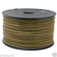 ABS Filament für 3D Drucker Printer 1,75 mm / 1kg Spule Trommel Rolle in Gold