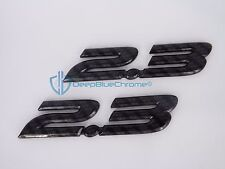 Mazda 3 Carbon Fiber 2.3 Emblems 2004-2009 Side Door Badge OEM LH RH Pair 2.3L