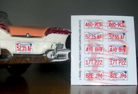 CURRENT STYLE MASSACHUSETTS miniature LICENSE PLATES for 1/25 scale MODEL CARS