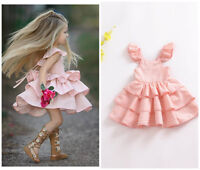 Toddler baby girl summer Layered dress princess party wedding pageant Tutu dress