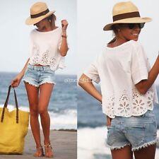 donne cime chiffon manica della camicia camicetta maglietta casuale tops t-shirt