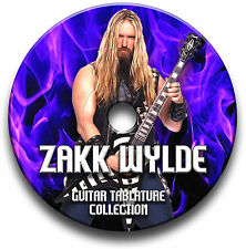 Zakk Wylde Heavy Metal Rock Guitar Tabs Tablaturas canción Libro Cd De Software