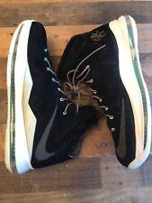 LeBron X 10 EXT QS Black Suede Mint Sz 13