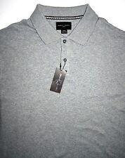 New NWT Mens XL Black Brown 1826 SS Polo Style Shirt Grey Cotton