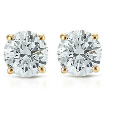 1/2ct Diamante Tachas 14k Oro Amarillo