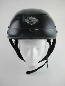 Harley Davidson HD Gloss Black Adult Medium Half 1/2 Motorcycle DOT Helmet