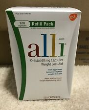 alli Diet Pills for Weight Loss, Orlistat Refill Pack 120 Capsules Exp 12/2020