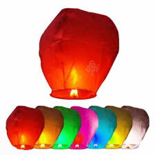 Lot 10pcs Paper Chinese Lanterns Sky Fly Candle Lamp for Wish Party Wedding