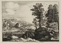 Paul BRIL (um 1554-1626), Landschaft mit Fluss, um 1600, Radierung