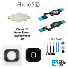 NEW Replacement Complete Home Button Repair Kit with Tools For iPhone 5C - BLACK
