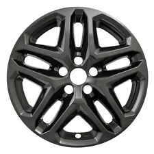 """One Wheel Skin Cover Fits 2013-2016 Ford Fusion 17"""" Gloss Black 5 Double Spoke"""