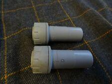 2 x BS7291/2 - 22mm - 15mm spigot / socket reducers - push fit adaptors