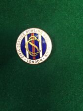 Lawn Bowls Enamel Badge London Civil Service Bowling Association