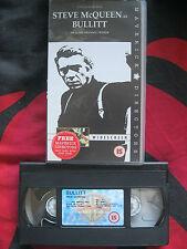 BULLITT VHS VIDEO. Steve McQueen. Detective Thriller. Cert. 15. Widescreen.