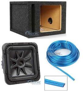"""Kicker L7S104 1200W 10"""" Solo Baric L7S Square Car Sub + Vented Sub Box Enclosure"""